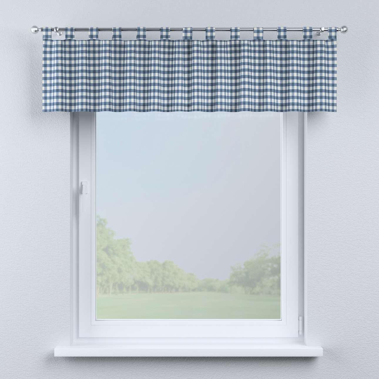 Krátky záves na pútkach V kolekcii Quadro, tkanina: 136-01