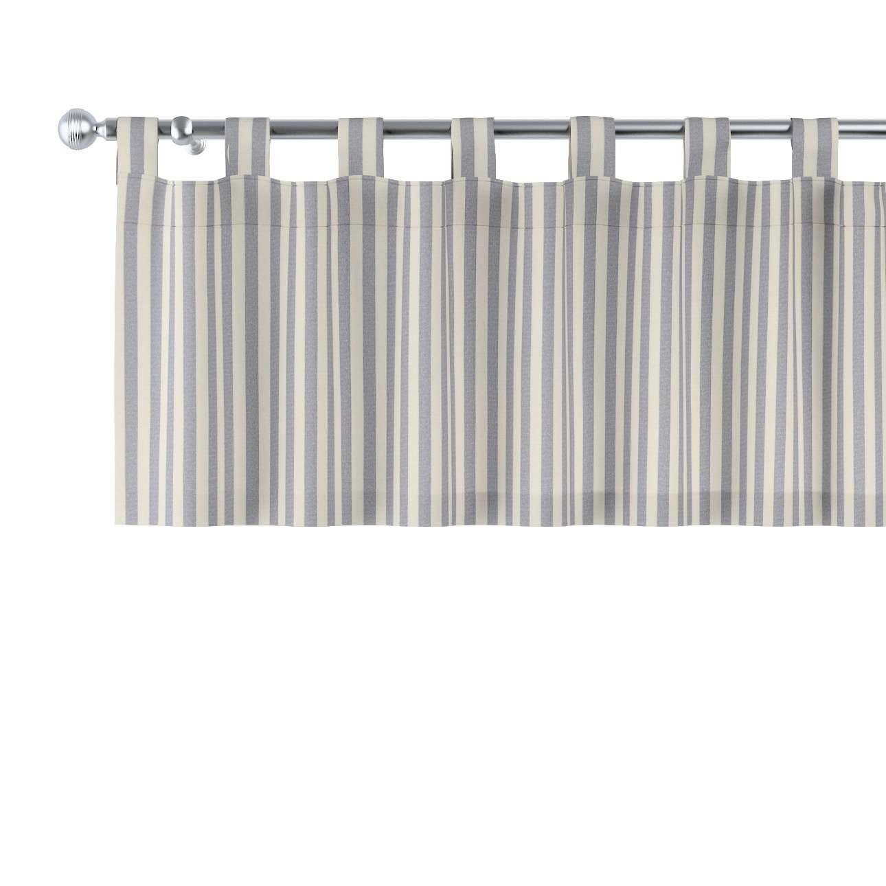 Kurzgardine mit Schlaufen 130x40cm von der Kollektion Quadro, Stoff: 136-02