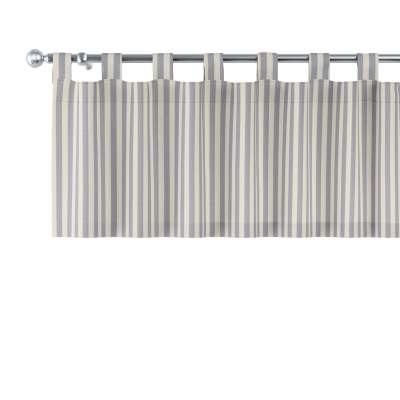 Kurzgardine mit Schlaufen 136-02 marinenblau-ecru  Kollektion Quadro