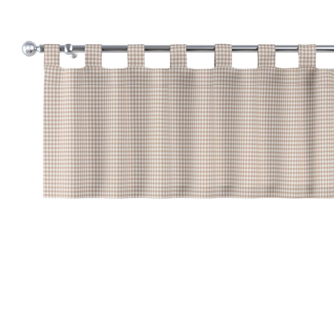Trumpa užuolaidėlė (lambrekenas) kilpinis klostavimas 130x40cm kolekcijoje Quadro, audinys: 136-05