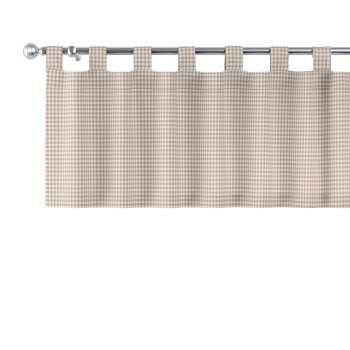 Kurzgardine mit Schlaufen 130x40cm von der Kollektion Quadro, Stoff: 136-05