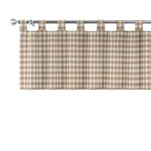 Kurzgardine mit Schlaufen 130x40cm von der Kollektion Quadro, Stoff: 136-06