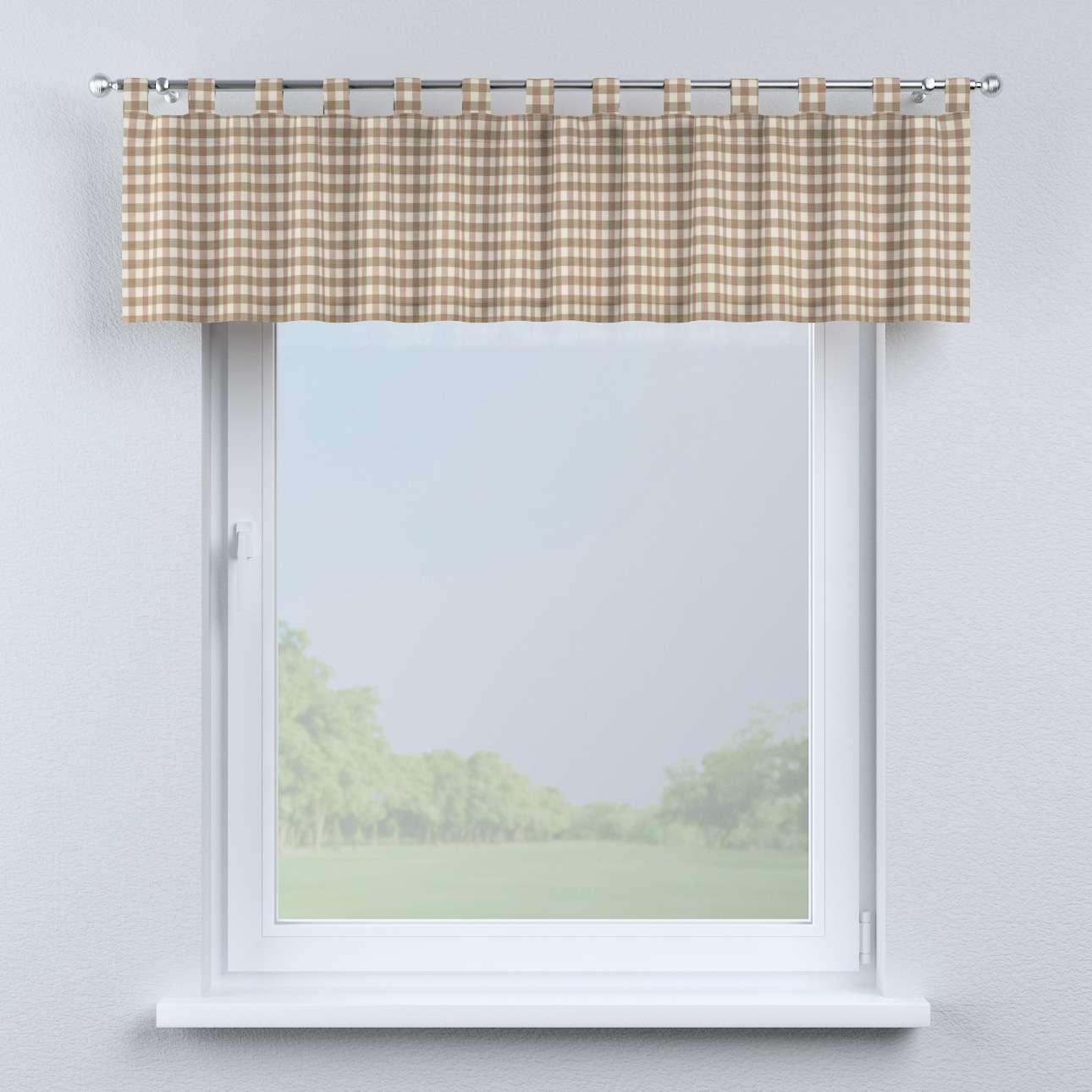 Gardinkappe med stropper fra kolleksjonen Quadro, Stoffets bredde: 136-06