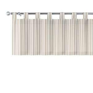 Trumpa užuolaidėlė (lambrekenas) kilpinis klostavimas 130x40cm kolekcijoje Quadro, audinys: 136-07