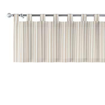 Kurzgardine mit Schlaufen von der Kollektion Quadro, Stoff: 136-07