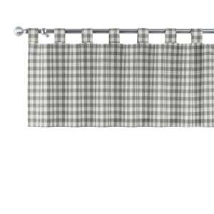 Trumpa užuolaidėlė (lambrekenas) kilpinis klostavimas 130x40cm kolekcijoje Quadro, audinys: 136-11