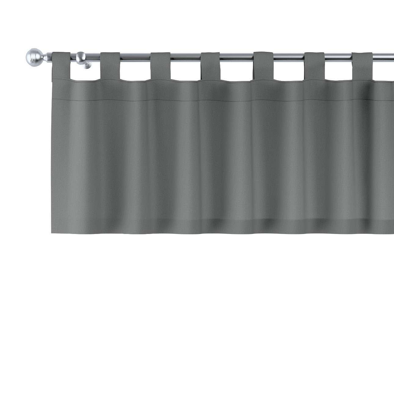 Gardinkappe med stropper 130x40cm fra kolleksjonen Quadro, Stoffets bredde: 136-14