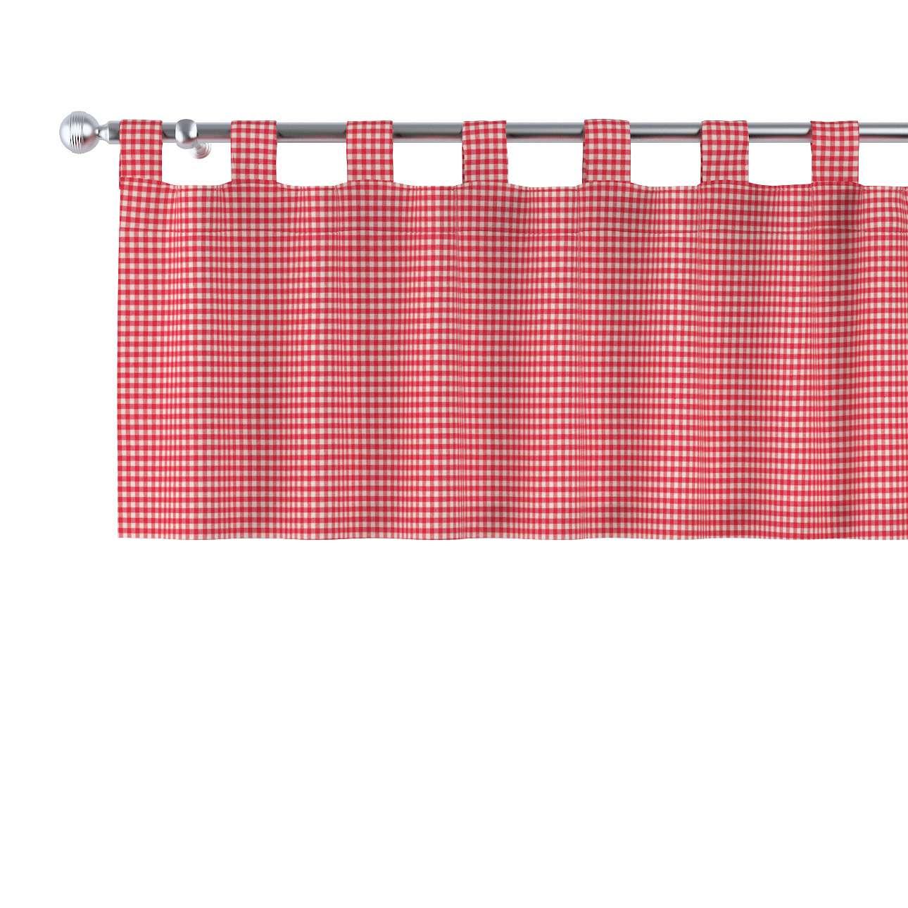 Kurzgardine mit Schlaufen von der Kollektion Quadro, Stoff: 136-15