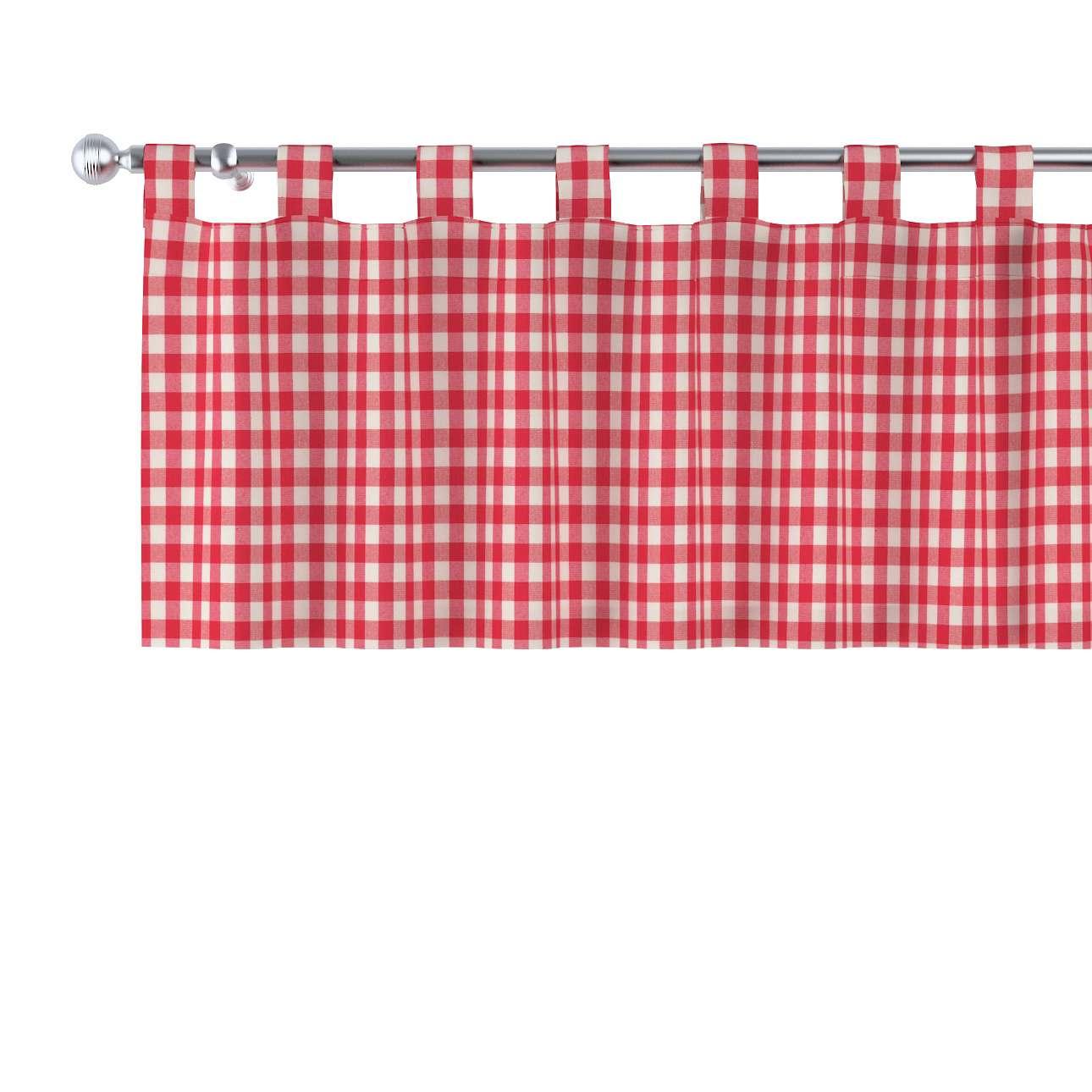 Krátky záves na pútkach V kolekcii Quadro, tkanina: 136-16