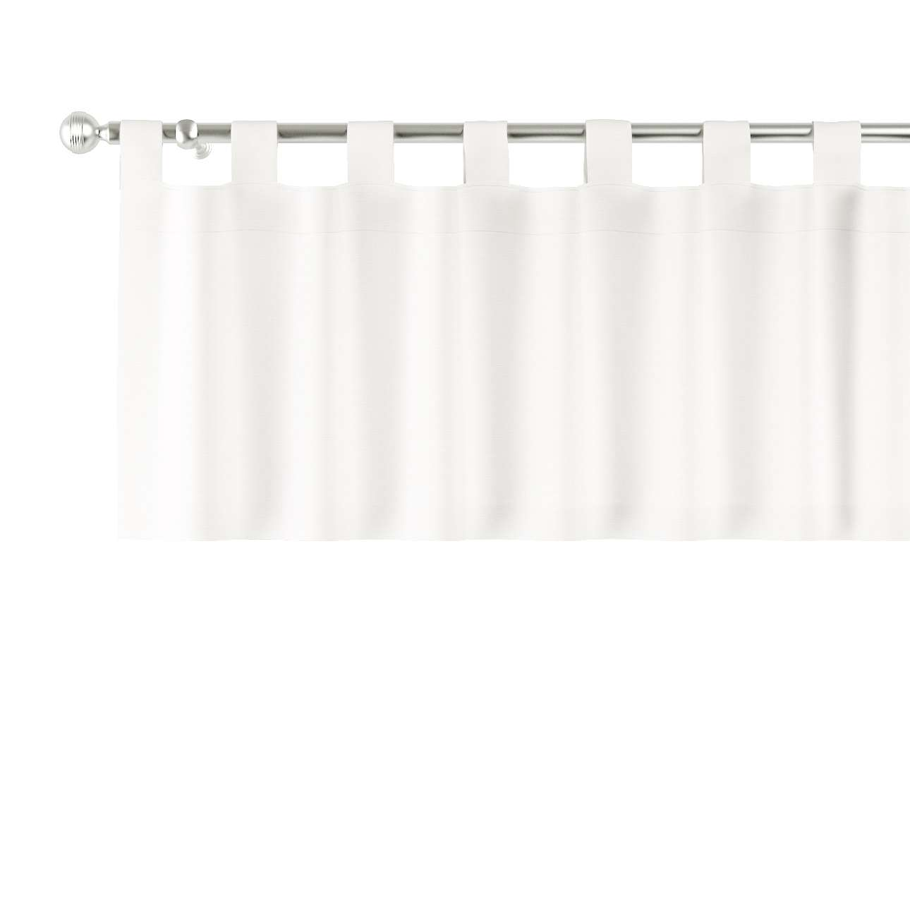 Trumpa užuolaidėlė (lambrekenas) kilpinis klostavimas 130x40cm kolekcijoje Cotton Panama, audinys: 702-34
