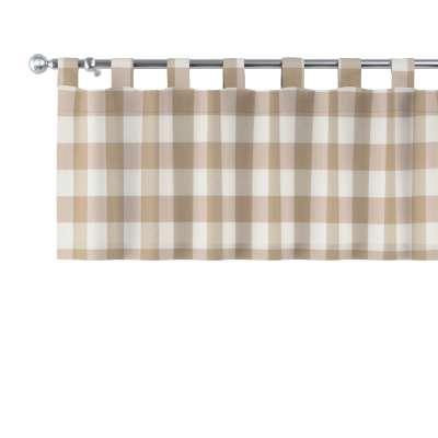 Krátky záves na pútkach V kolekcii Quadro, tkanina: 136-08