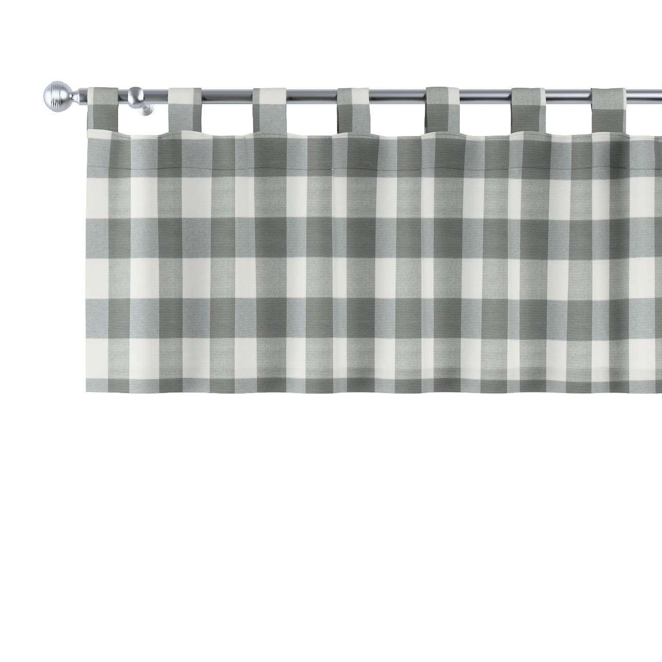Gardinkappe med stropper 130x40cm fra kolleksjonen Quadro, Stoffets bredde: 136-13