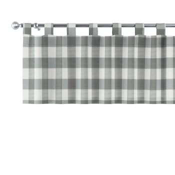 Gardinkappe med stropper fra kolleksjonen Quadro, Stoffets bredde: 136-13