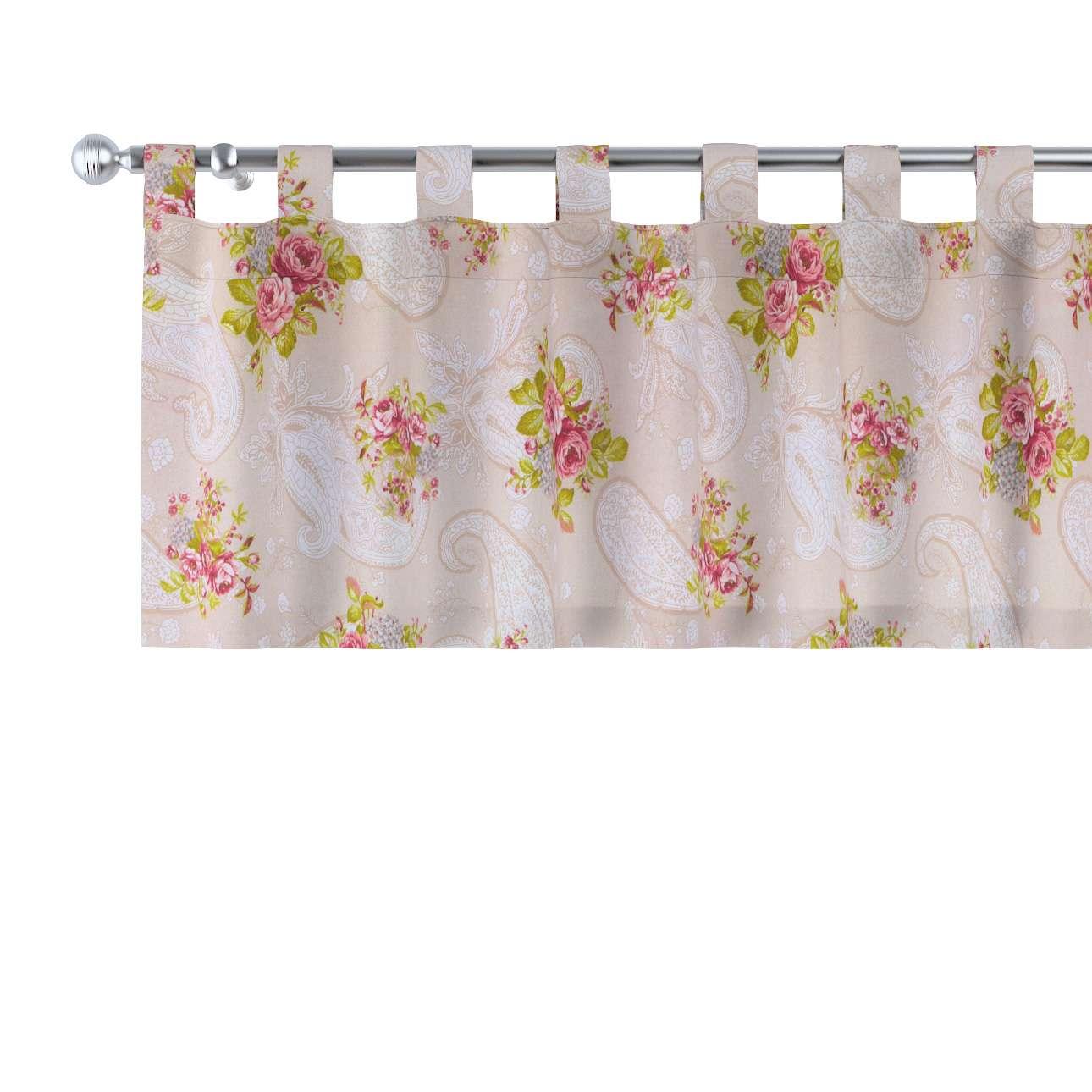 Gardinkappe med stropper 130 × 40 cm fra kollektionen Flowers, Stof: 311-15