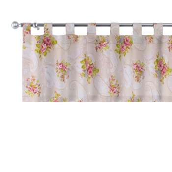 Kurzgardine mit Schlaufen 130x40cm von der Kollektion Flowers, Stoff: 311-15