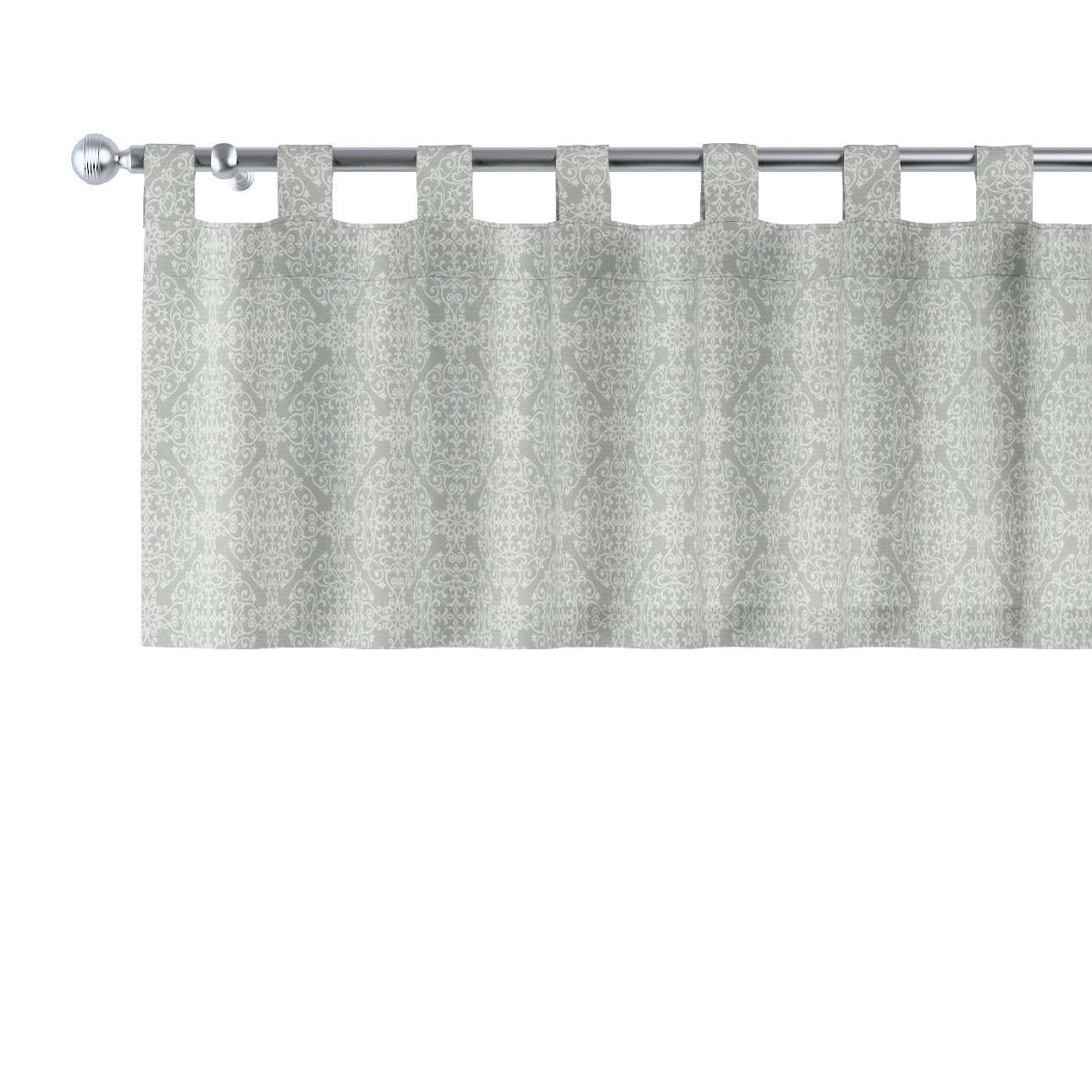 Krátky záves na pútkach V kolekcii Flowers, tkanina: 140-38