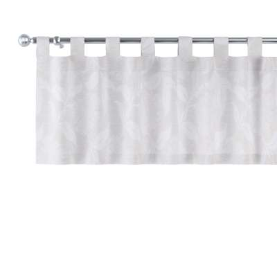 Tab top pelmet 140-51 glossy botanical pattern on grey background Collection Venice