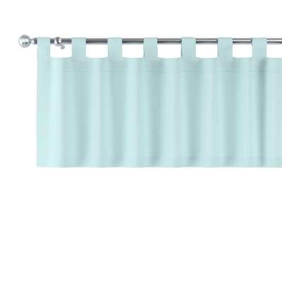 Gardinkappe med stropper 702-10 Lys turkis Kolleksjon Cotton Panama