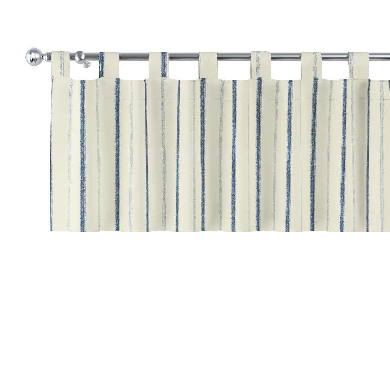 Gardinkappe med stropper 130x40cm fra kolleksjonen Avinon, Stoffets bredde: 129-66