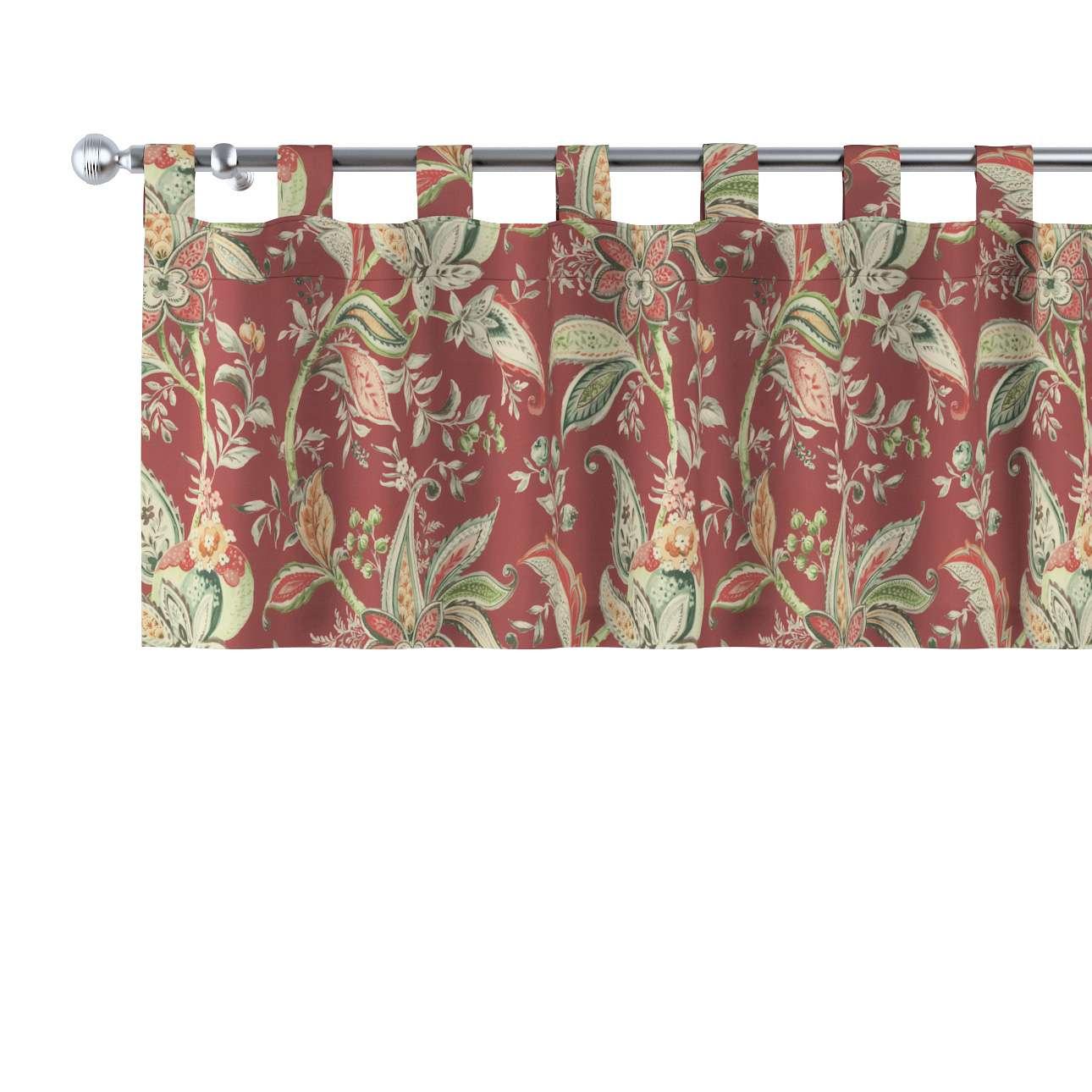 Kurzgardine mit Schlaufen von der Kollektion Gardenia, Stoff: 142-12