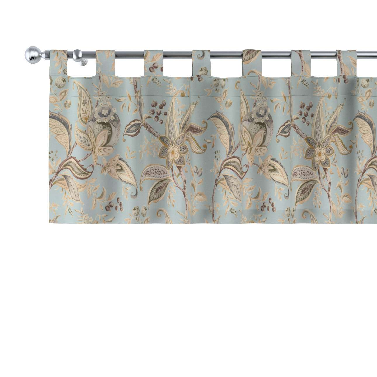 Krátky záves na pútkach V kolekcii Gardenia, tkanina: 142-18