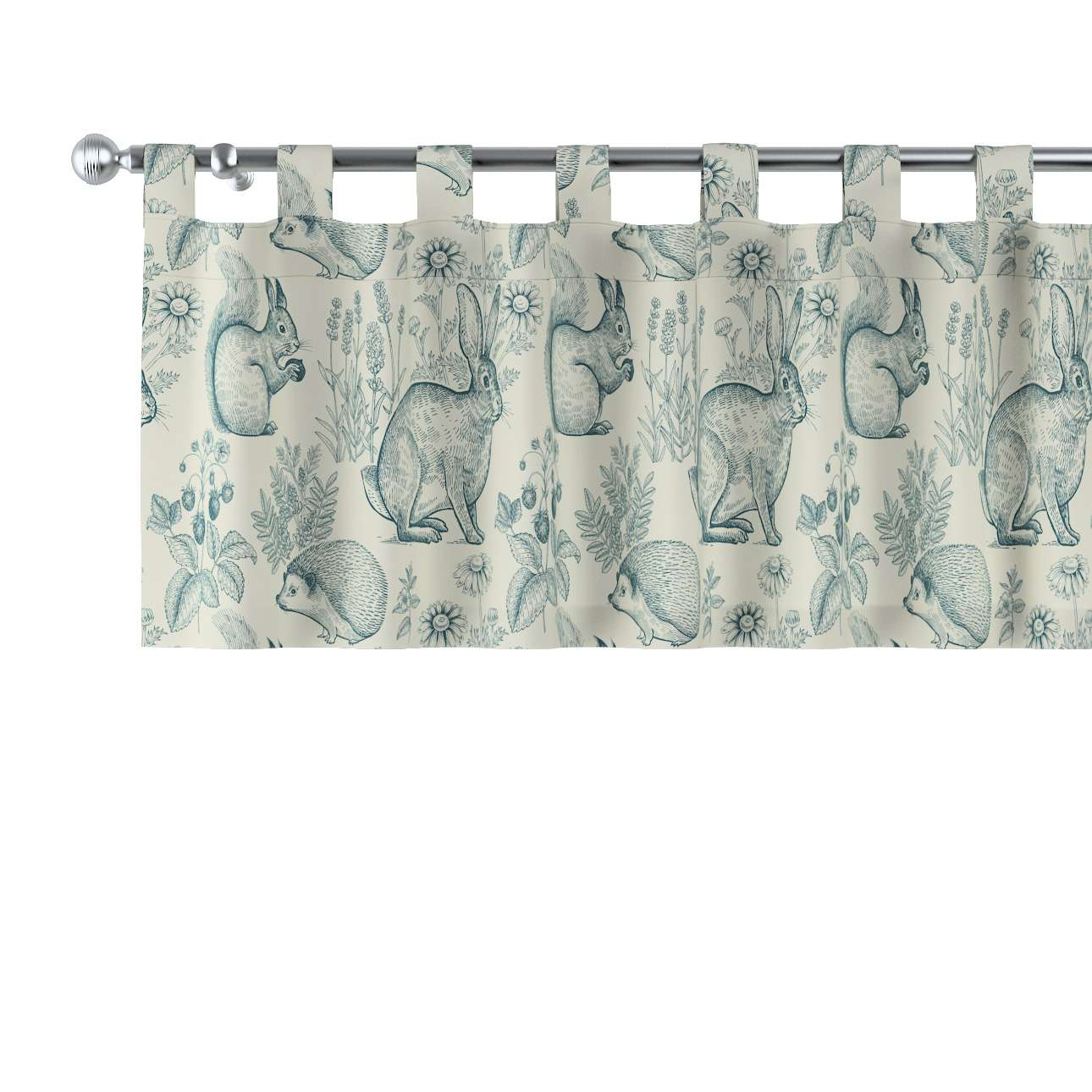 Lambrequin with loops in collection Magic Collection, fabric: 500-04