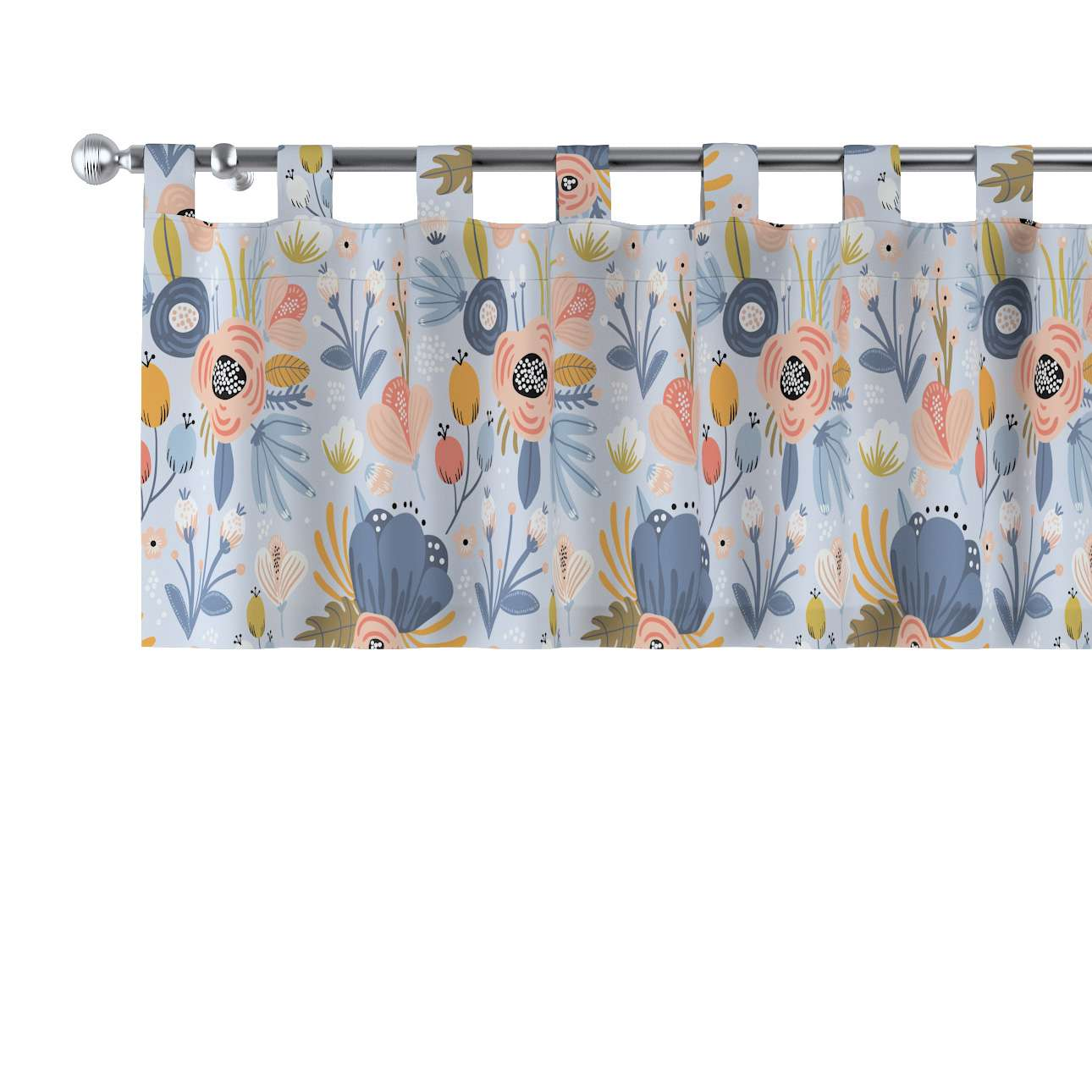 Lambrequin with loops in collection Magic Collection, fabric: 500-05