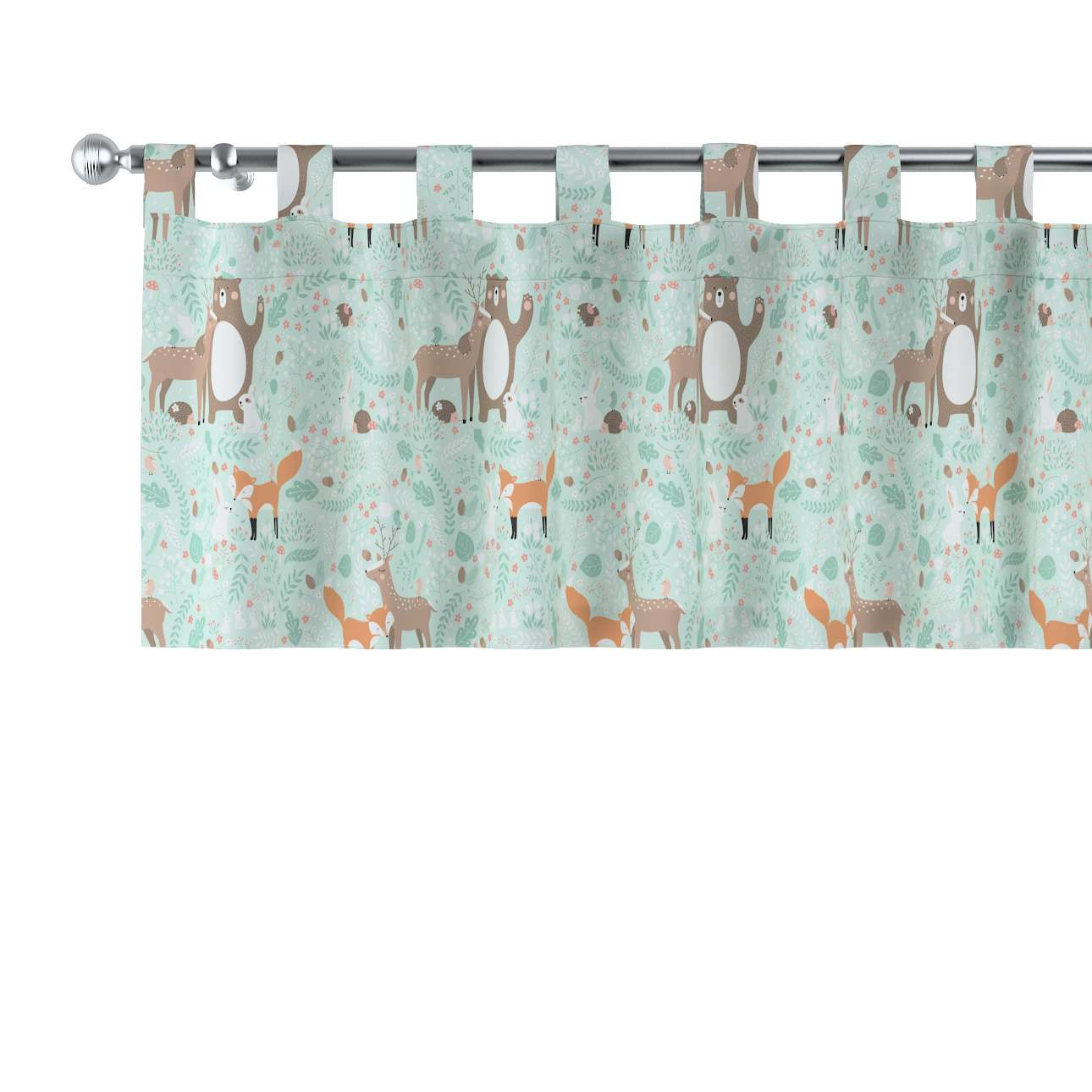 Lambrequin with loops in collection Magic Collection, fabric: 500-15