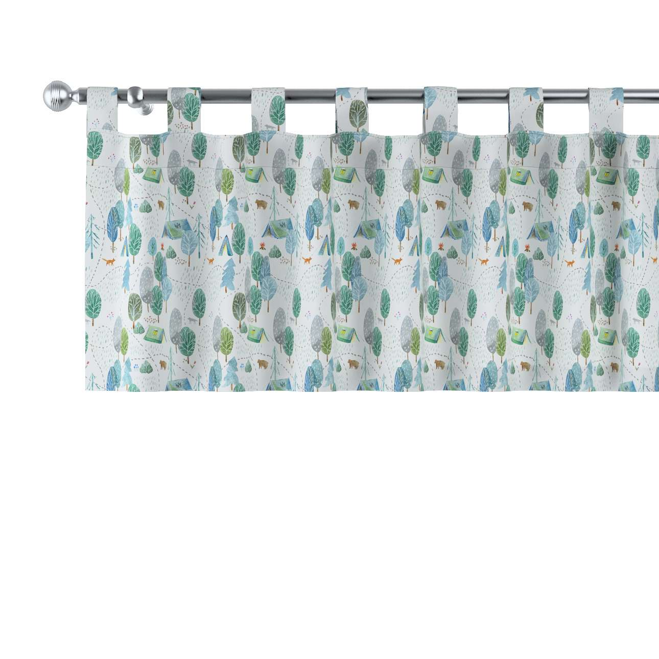 Lambrequin with loops in collection Magic Collection, fabric: 500-21