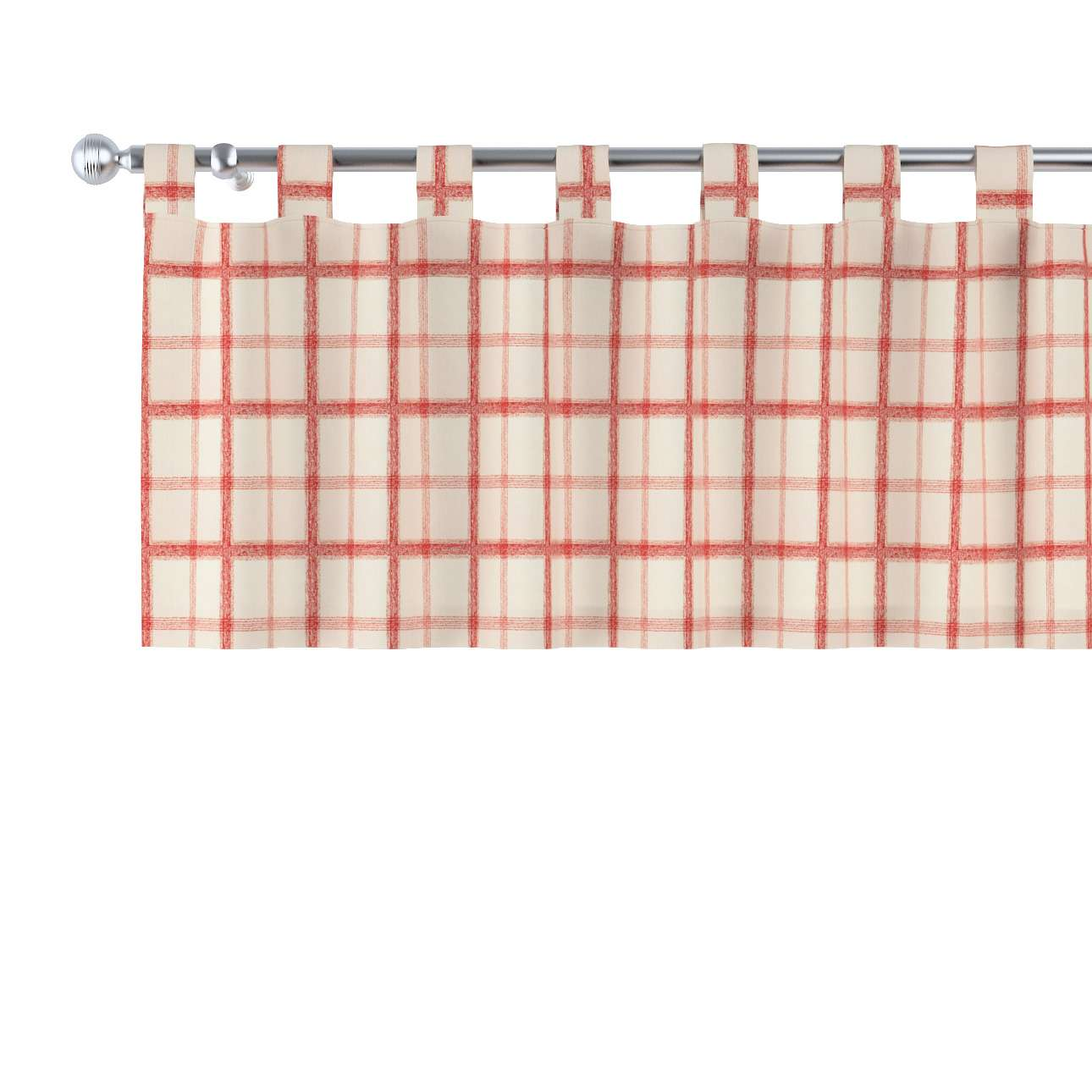 Kurzgardine mit Schlaufen 130x40cm von der Kollektion Avinon, Stoff: 131-15