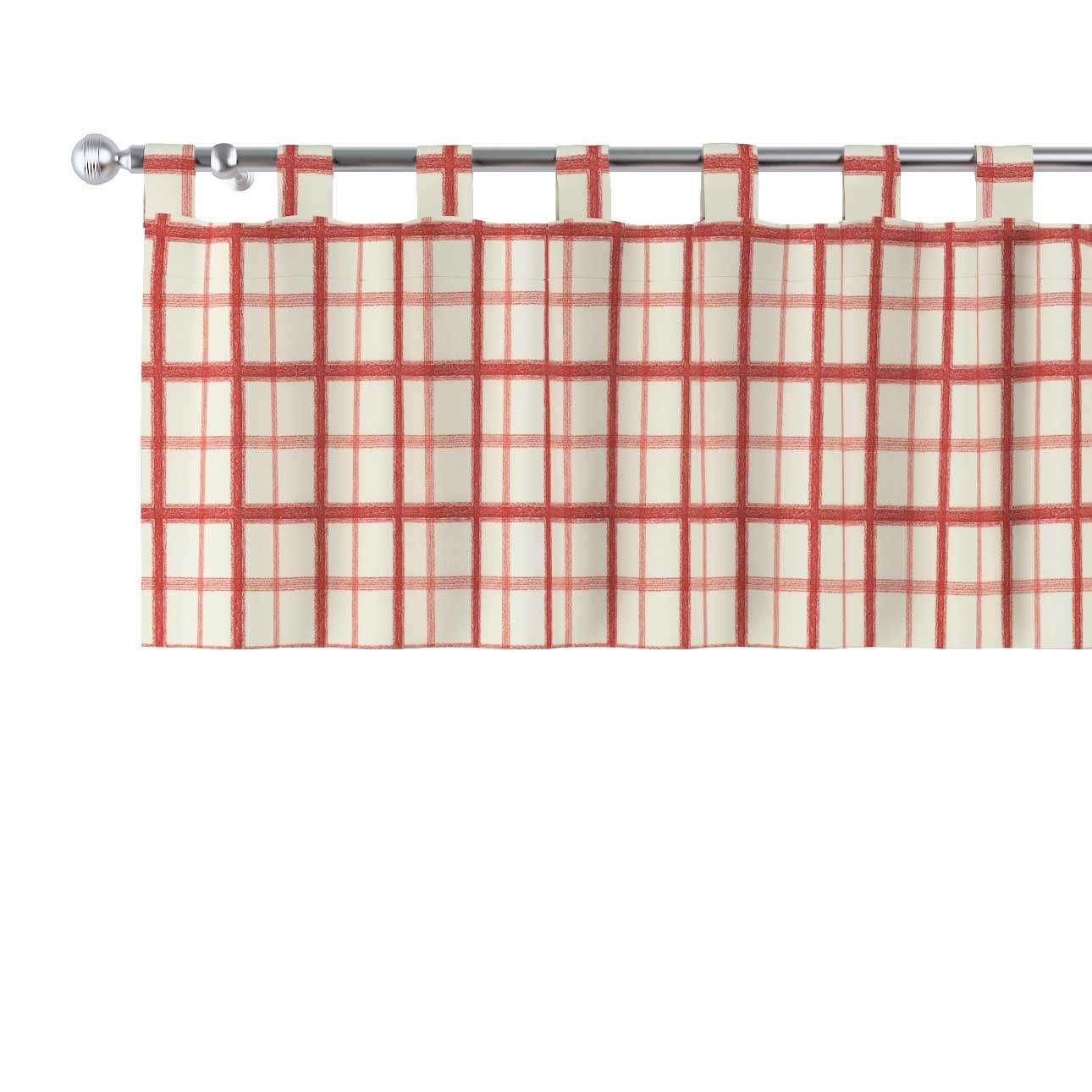 Trumpa užuolaidėlė (lambrekenas) kilpinis klostavimas 130x40cm kolekcijoje Avinon, audinys: 131-15