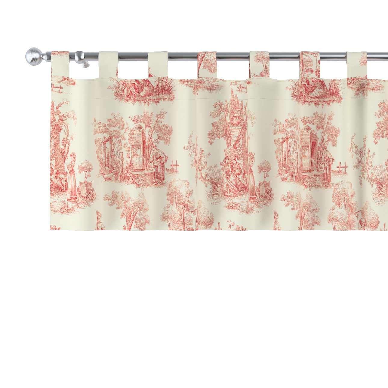 Gardinkappe med stropper fra kolleksjonen Avinon, Stoffets bredde: 132-15