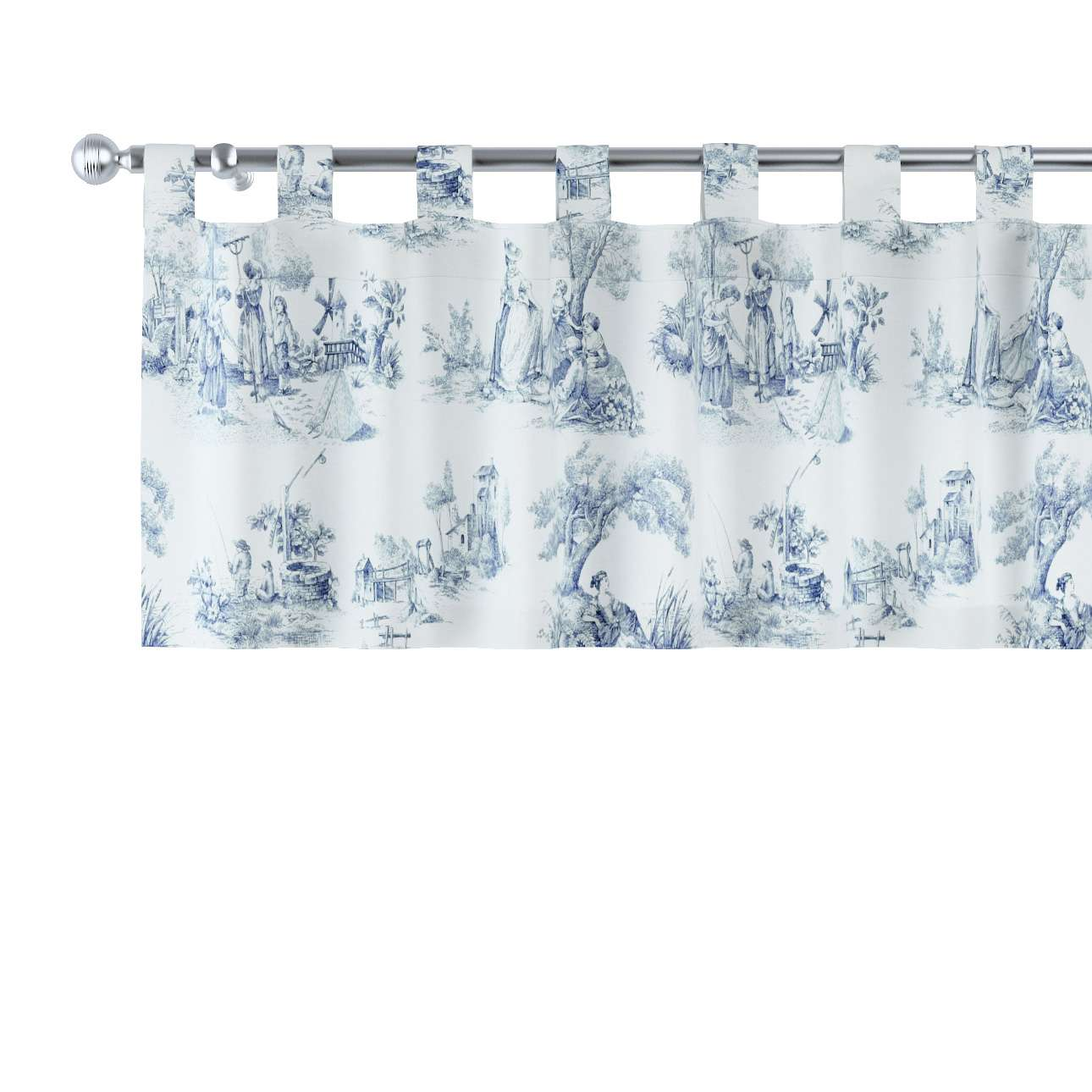 Gardinkappa med hällor 130x40cm i kollektionen Avinon, Tyg: 132-66