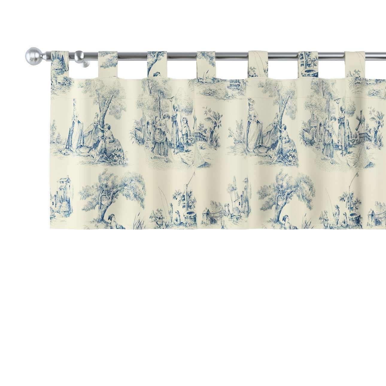 Kurzgardine mit Schlaufen 130x40cm von der Kollektion Avinon, Stoff: 132-66