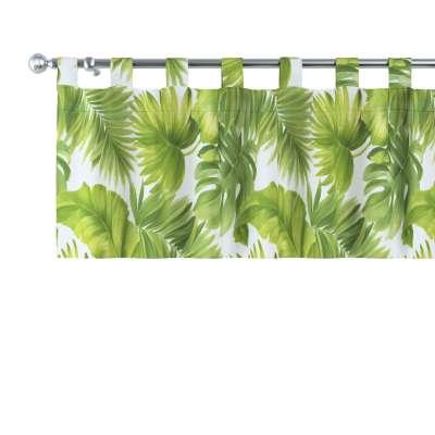 Lambrekin na szelkach 143-63 seledynowe liście na białym tle Kolekcja Tropical Island