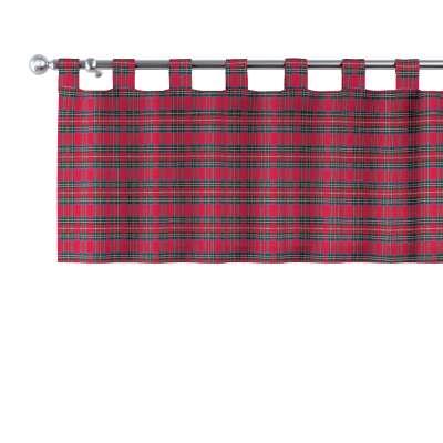 Lambrekin na poutkách 126-29 kostka červená/zelená Kolekce Christmas