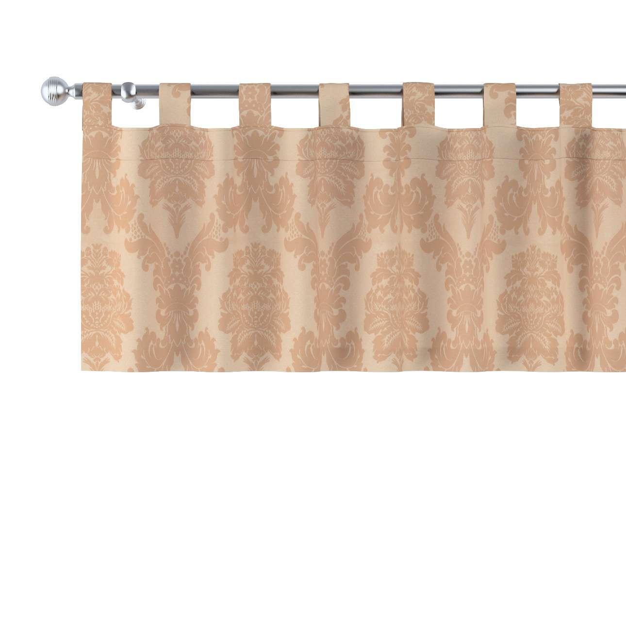 Kurzgardine mit Schlaufen 130x40cm von der Kollektion Damasco, Stoff: 613-04