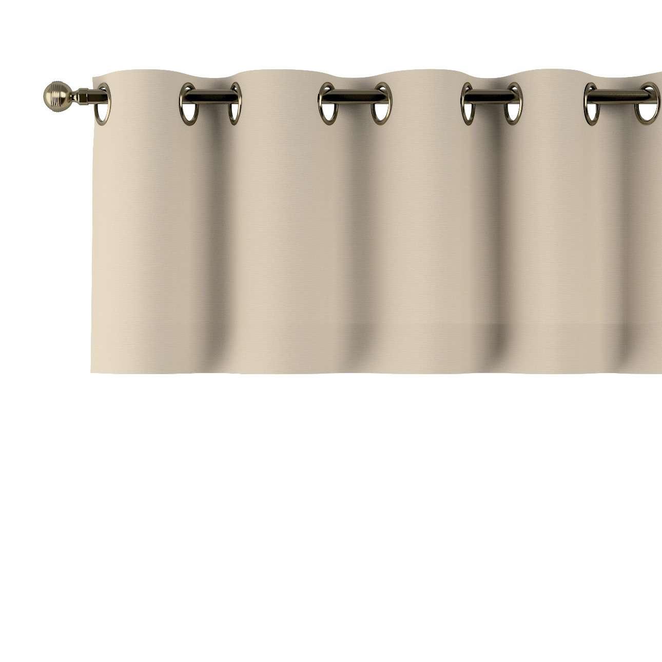 Trumpa užuolaidėlė (lambrekenas) žiedinis klostavimas 130x40cm kolekcijoje Cotton Panama, audinys: 702-01