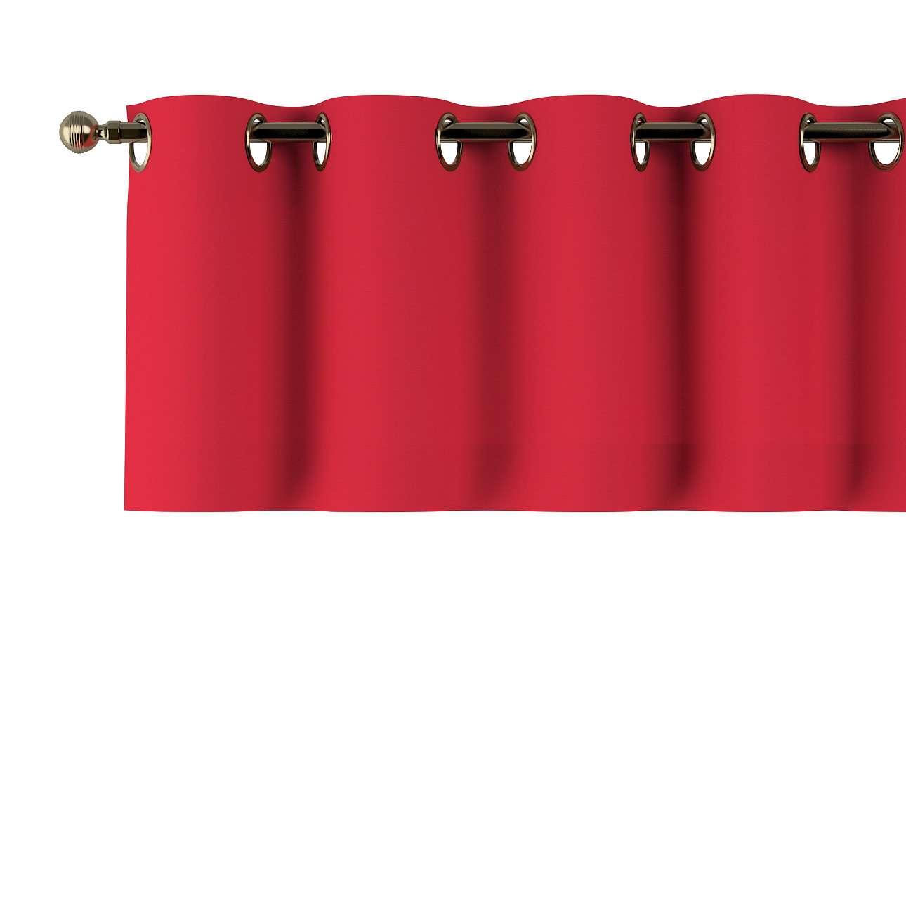 Trumpa užuolaidėlė (lambrekenas) žiedinis klostavimas 130x40cm kolekcijoje Cotton Panama, audinys: 702-04