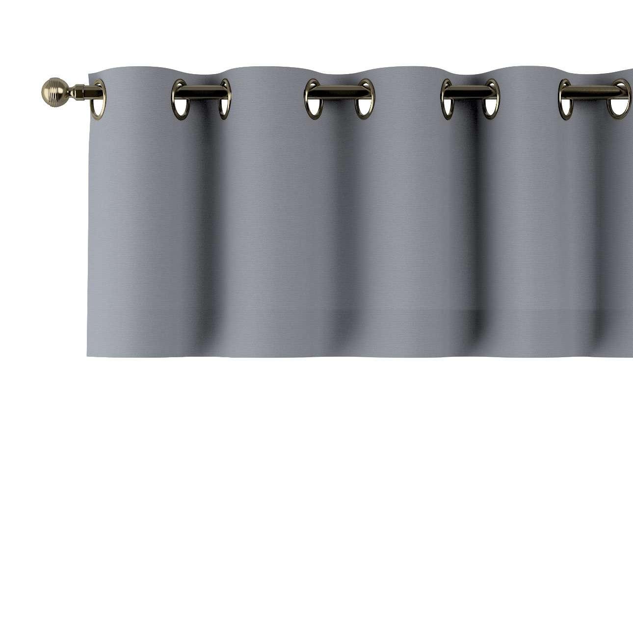 Trumpa užuolaidėlė (lambrekenas) žiedinis klostavimas 130x40cm kolekcijoje Cotton Panama, audinys: 702-07