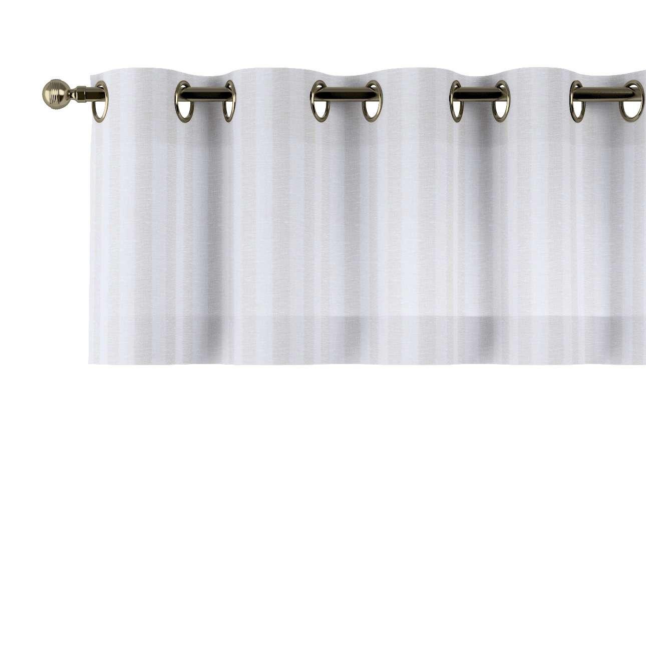 Trumpa užuolaidėlė (lambrekenas) žiedinis klostavimas 130x40cm kolekcijoje Linen , audinys: 392-03