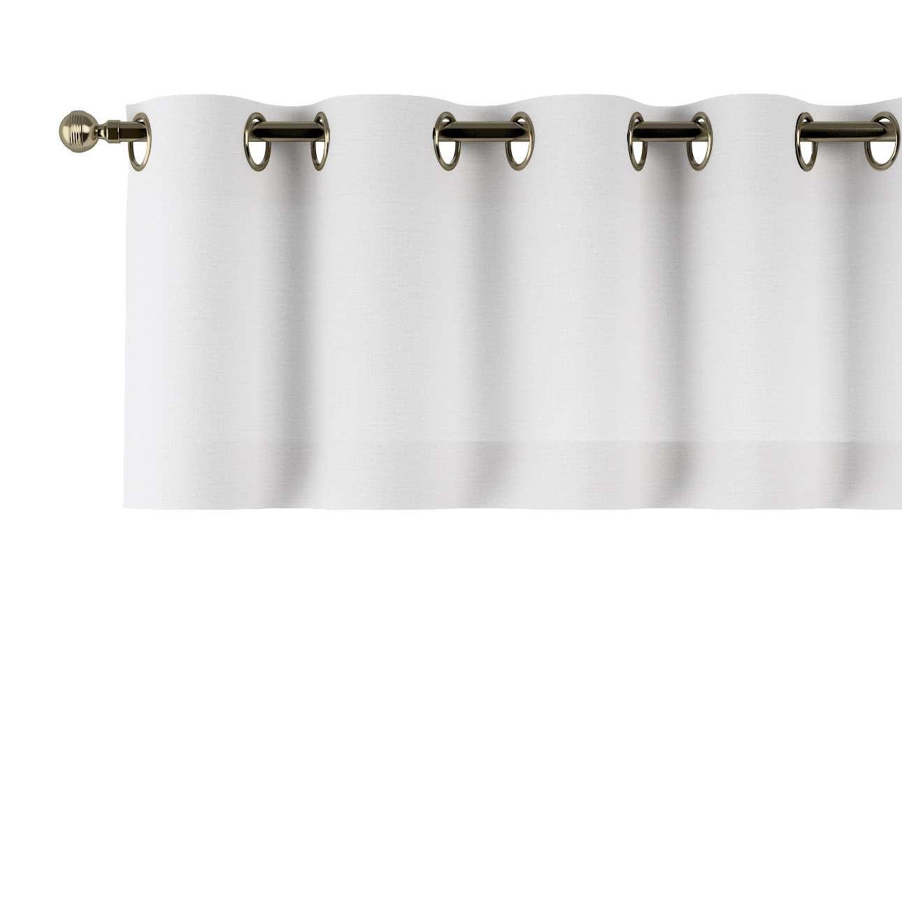 Trumpa užuolaidėlė (lambrekenas) žiedinis klostavimas 130x40cm kolekcijoje Linen , audinys: 392-04