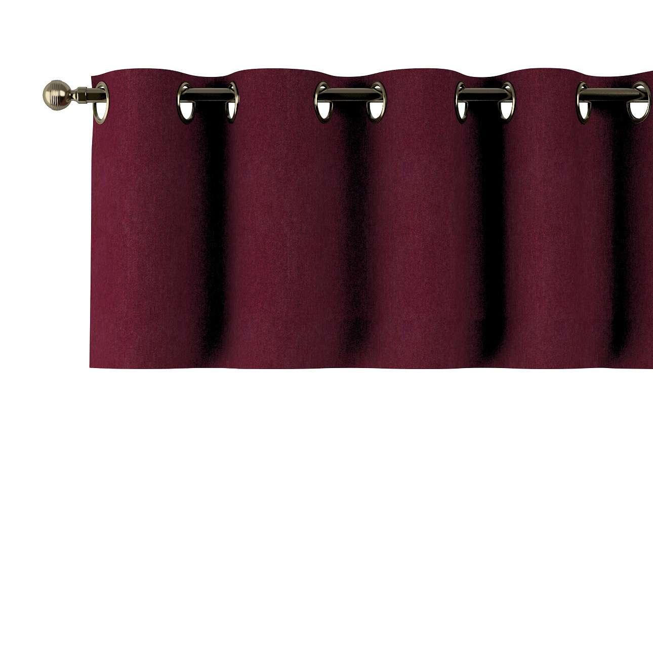 Trumpa užuolaidėlė (lambrekenas) žiedinis klostavimas 130x40cm kolekcijoje Chenille, audinys: 702-19