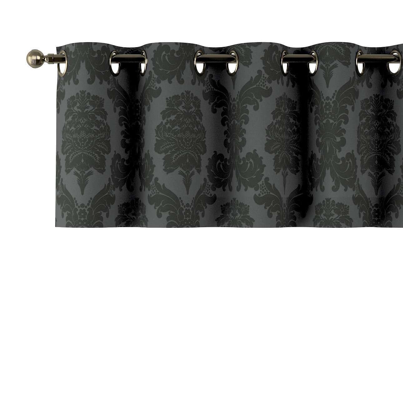 Kort gordijn met ringen van de collectie Damasco, Stof: 613-32