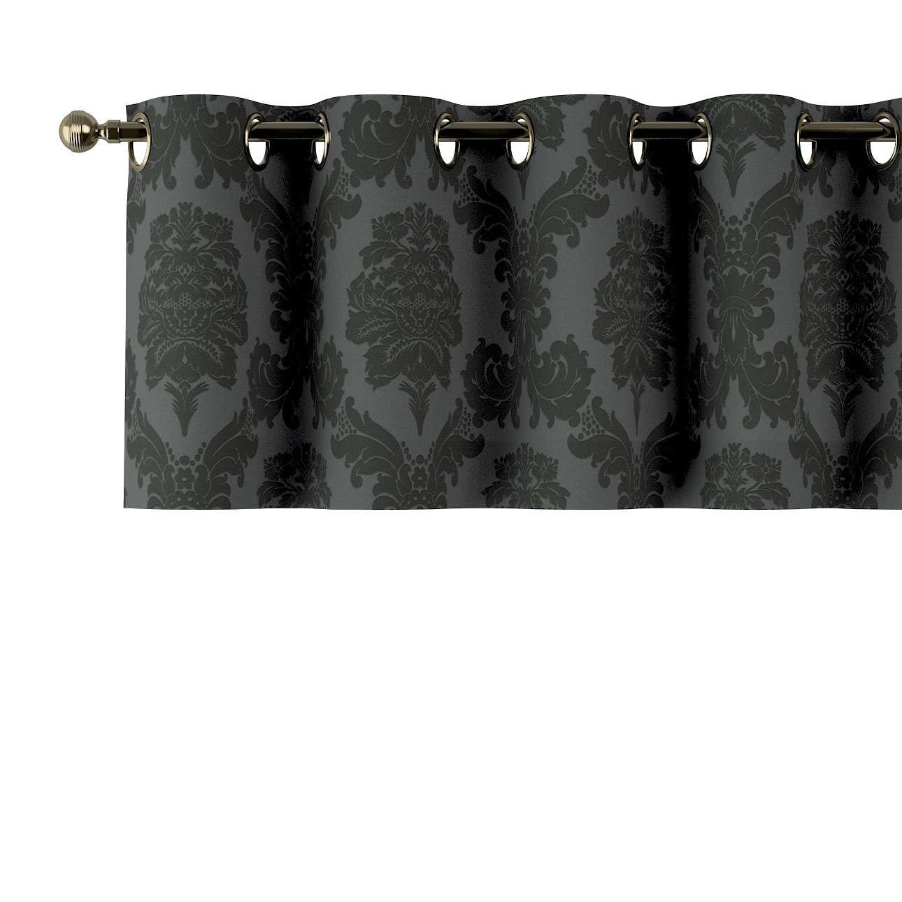 Trumpa užuolaidėlė (lambrekenas) žiedinis klostavimas 130x40cm kolekcijoje Damasco, audinys: 613-32