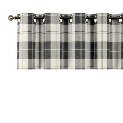 Gardinkappe med kovser 115-74 naturhvid-sort ternet Kollektion Edinburgh