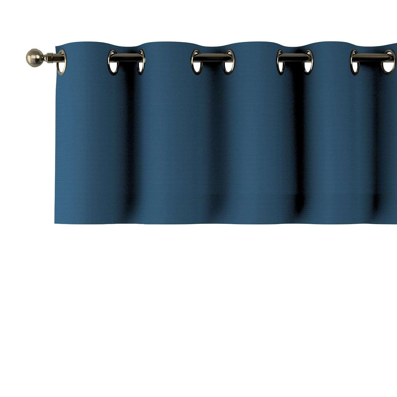 Trumpa užuolaidėlė (lambrekenas) žiedinis klostavimas 130x40cm kolekcijoje Cotton Panama, audinys: 702-30