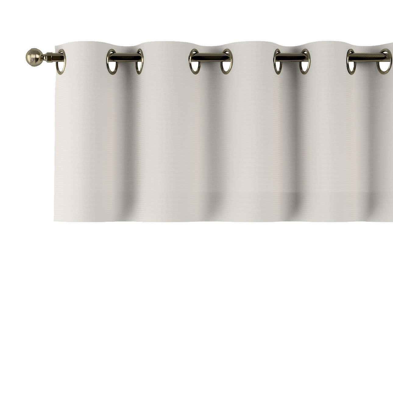 Trumpa užuolaidėlė (lambrekenas) žiedinis klostavimas 130x40cm kolekcijoje Cotton Panama, audinys: 702-31