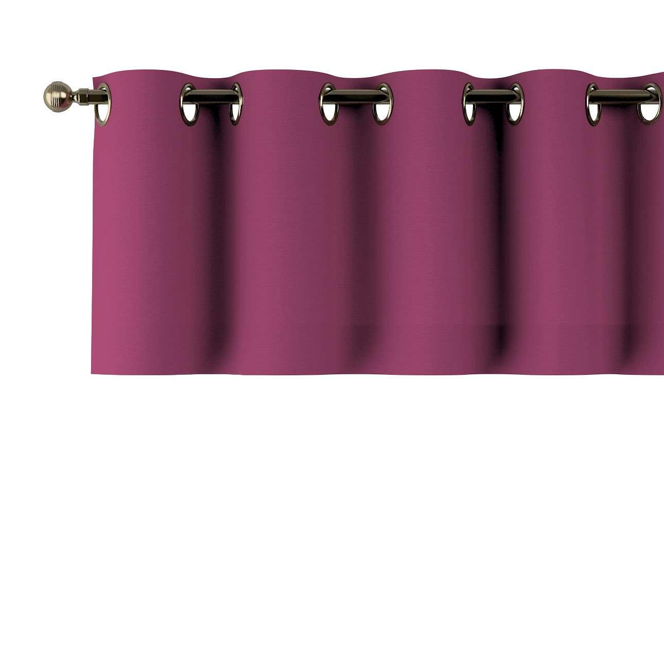 Kurzgardine mit Ösen, pflaume , 260 × 40 cm, Cotton Panama