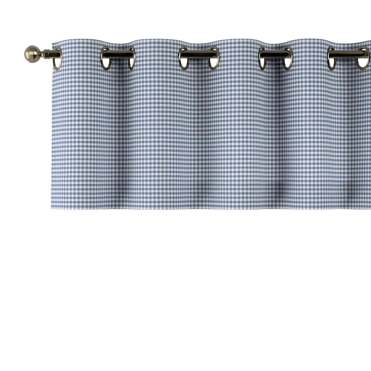 Trumpa užuolaidėlė (lambrekenas) žiedinis klostavimas 130x40cm kolekcijoje Quadro, audinys: 136-00